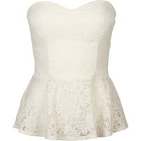 FULL TILT Lace Womens Peplum Tube Top 214276151 | Knit Tops & Tees | Tillys.com