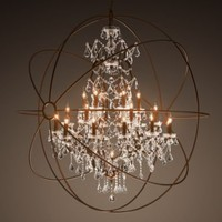 Foucault&#x27;s Orb Crystal Chandelier X-Large | Ceiling | Restoration Hardware