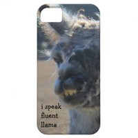 i speak fluent llama, funny llama iPhone case from Zazzle.com