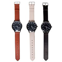 Poketo Colorblock Leather Watch