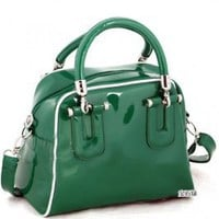 Wholesale Fashion Lady's Dual-use Large Capacity Handbag Deep Green
