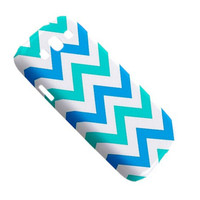 Samsung Galaxy S3 Case Tiffany Cool Blue Chevron Pattern Galaxy S3 Cover Hardshell Case Chevron Pattern