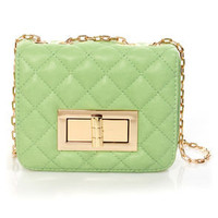 In So Mini Words Quilted Mint Purse