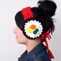 Sushi Noms Earmuffs by HustleAndSewShop on Etsy