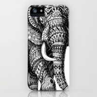 Ornate Elephant v.2 iPhone Case by BioWorkZ | Society6