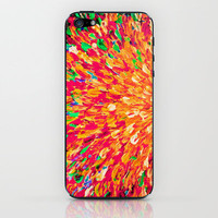 NEON SPLASH - WOW Intense Dash of Cheerful Color, Bold Water Waves Nature Lovers Modern Abstract  iPhone & iPod Skin by EbiEmporium | Society6