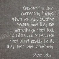 $9.00 Steve Jobs quote print  creativity is just by SummerRainDesign