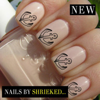 Anchor Stencil Decal Designs For Nails Water Transfers Celebrity Style Manicure