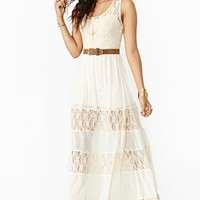 Laced Maxi Dress - Cream
