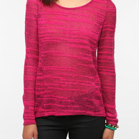 Renn Burnout Stripe Pullover Sweater