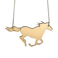 Running Horse Necklace,Plexiglass J.. on Luulla