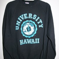 BeWorn — Vintage Black University of Hawaii College Jumper