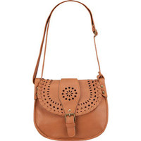Faux Leather Perforated Buckle Crossbody Bag 211994412 | Handbags | Tillys.com
