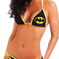 Amazon.com: Batman Logo Triangle Set Black String Bikini: Clothing