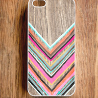 Wood Effect Chevron iPhone 5 Case, Geometric Cases -  iPhone 4 Case -  Accessories for iPhone 5 and iPhone 4