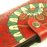 Red Wallet Leather  Ferris wheel by rntn on Etsy