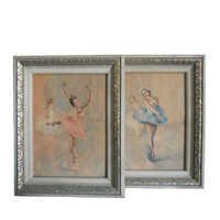 Vintage Ballet Prints Wall Art - Set of Two Pal Fried Ballet Art Decor