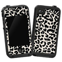 "Amazon.com: Black and White Leopard ""Protective Decal Skin"" for LifeProof 4/4S Case: Cell Phones & Accessories"