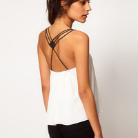 ASOS Cami With Contrast Strappy Back