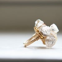 Herkimer Diamond Ring as seen on the Today by MineralogyDesign