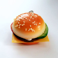Cheese Burger Hand Mirror  Kitsch Compact by KitschBitchJewellery