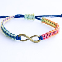 Rainbow Infinity Hemp Bracelet