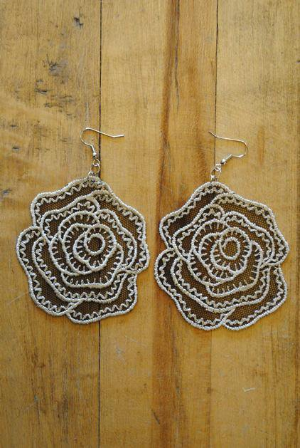 Lace Roma Earring.  www.leeandbirch.com