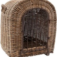 One Kings Lane - Stephen Shubel Design - French Wicker Doghouse