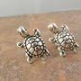 Tiny Silver Turtle Earrings Stud Post