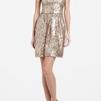 BCBGMAXAZRIA - SHOP BY CATEGORY: DRESSES: VIEW ALL: CAROL STRAPLESS SEQUINED DRESS