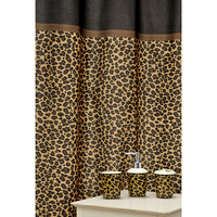 &#x27;Leopard Brown&#x27; 16-piece Ceramic Bath Accessory Set