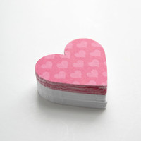 Valentine Heart Die Cuts - Pink Hearts White Embellishment Set
