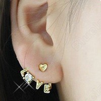 Love Crystal Joker Sprout Style Earrings