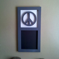 Peace Sign Chalk Board Hanging Made to Order Any Letter