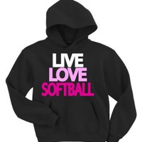 Amazon.com: Live Love Softball Hoodie Sweatshirt: Clothing