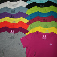 Under Armour Women's UA Charged Cotton Short Sleeve T-Shirt Tee All Colors