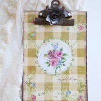 Les Fleur Petite Clipboard In Yellow | Modern Vintage Home  Office
