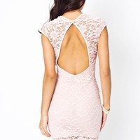 lace-sweetheart-cut-out-dress IVORY ROSE - GoJane.com