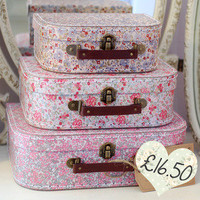 Ditsy Floral Suitcases  Dear Blackbird Homewares