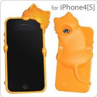 Amazon.com: KiKi Case Kitten iPhone 4S/4 Cover (Orange): Electronics