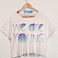 We Are Young Blue Aztec | fresh-tops.com