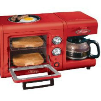 Amazon.com: Nostalgia Electrics BSET100CR 3 in 1 Breakfast Station: Kitchen & Dining