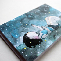 Fireflies cute little blank greeting card