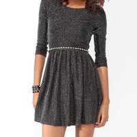 Metallic-Blend Skater Dress | FOREVER 21 - 2027705100