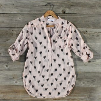 Heart Stitch Blouse, Sweet Country Inspired Clothing