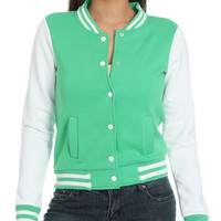 Fleece Baseball Jacket | Shop Jackets at Wet Seal