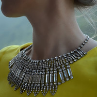 Isis - Stunning rhinestones statement necklace - Made to order