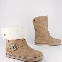 Shearling Cuff Booties -- Go Jane