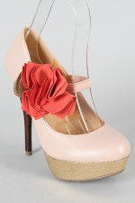 Lorane-201 Floral Mary Jane Pump