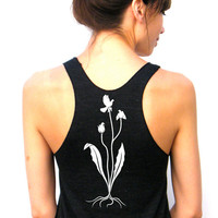 Planting Peace - American Apparel Racerback Tank Top - XS, Small, Medium, Large